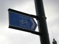 Велосипедна табелка в Лондон